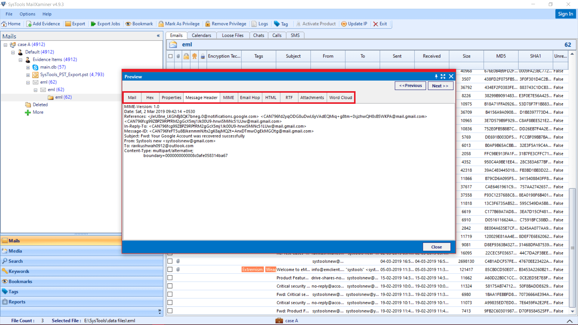 Windows Live Mail Forensics