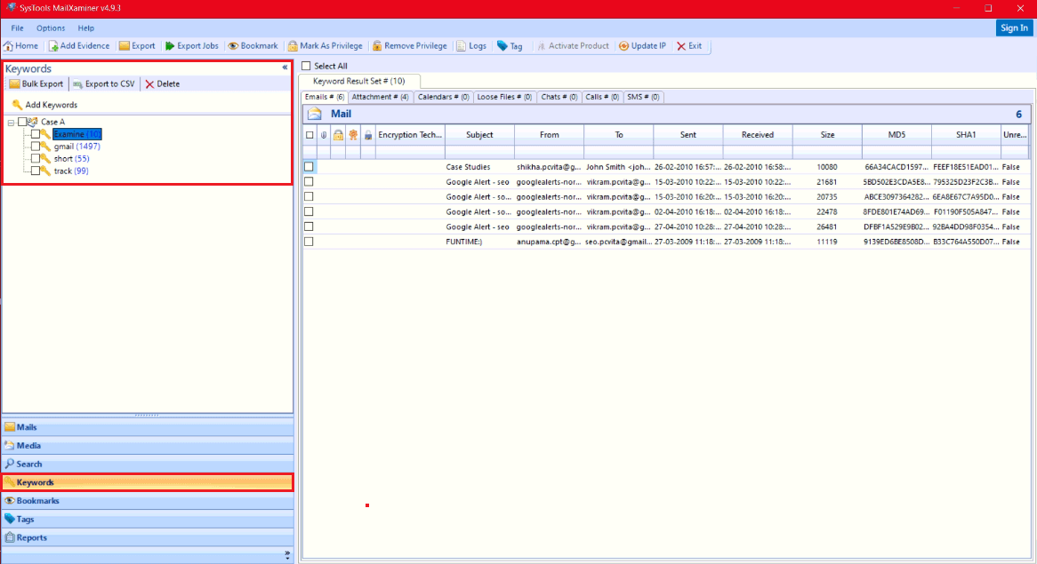 Search inside PST Files without Outlook & Extract Evidence
