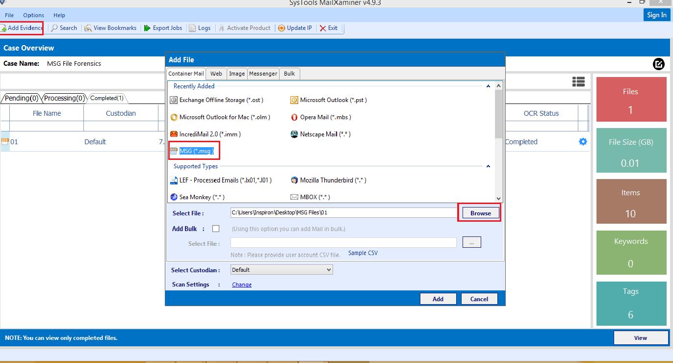 Add MSG File