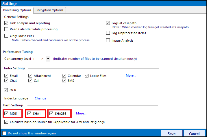 HASH ALGORITHM SUPPORT: Outlook PST File Forensics
