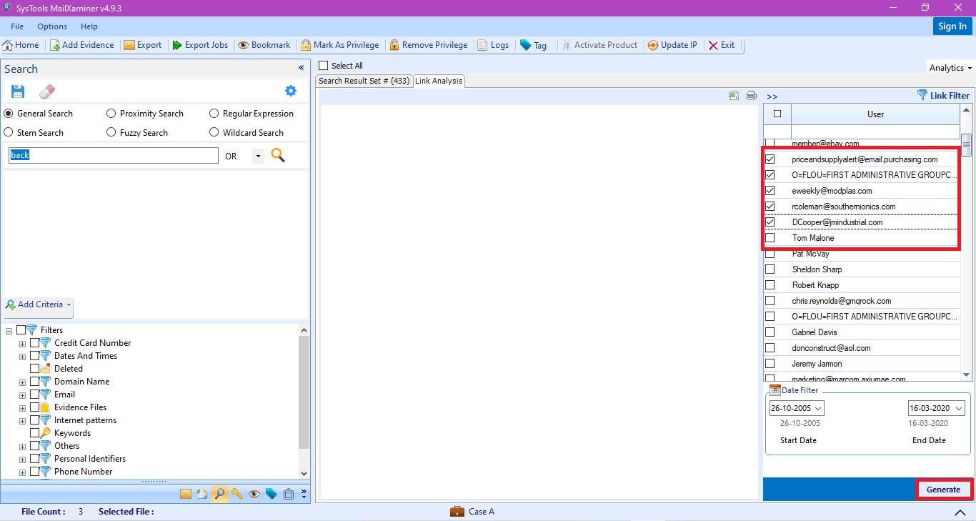 Generate Link Analysis