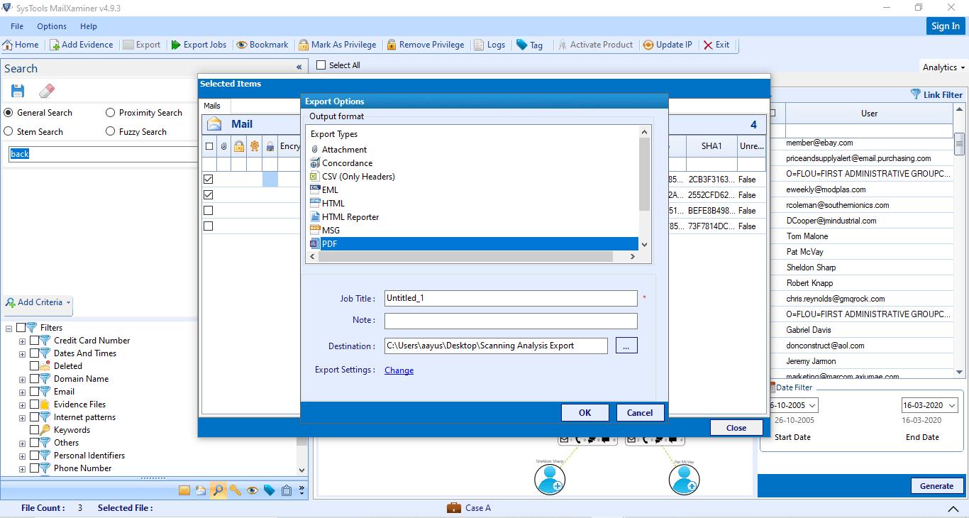 PDF, PST, MSG, HTML