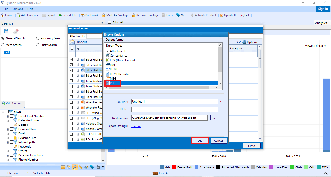 Export Timeline Analysis in Digital Forensics
