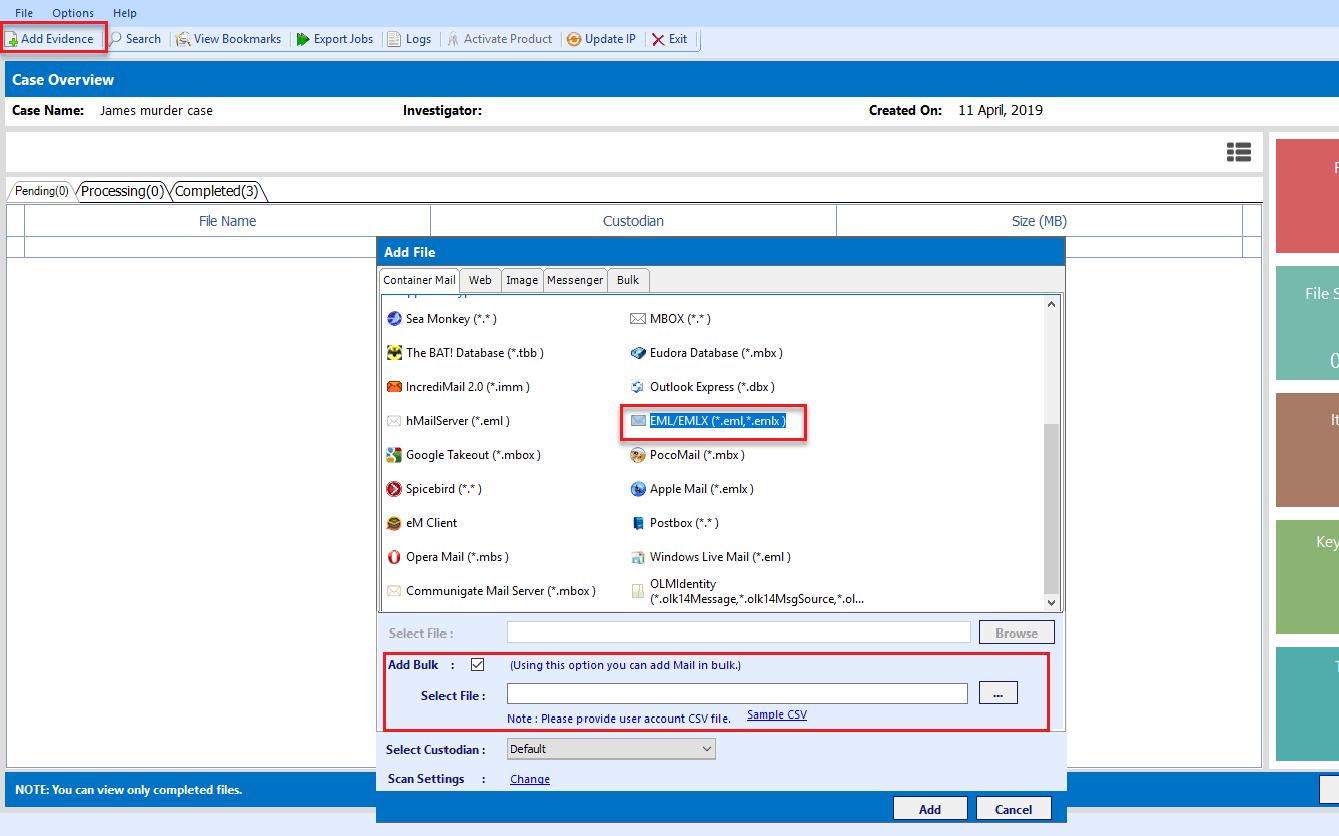 20+ Email File Formats for EML File Forensics