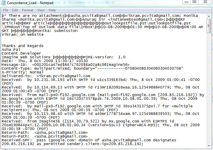 Concordance DAT File Format